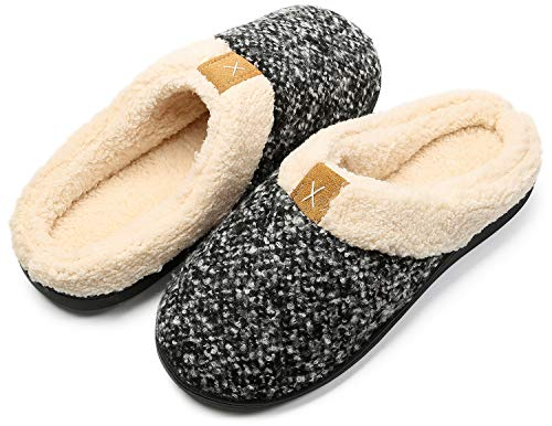 Inverno Pantofole da Casa Uomo Donna Memoria Schiuma Scarpe in Caldo Peluche Cotone Morbido Antiscivolo Interno Esterno Ciabatte