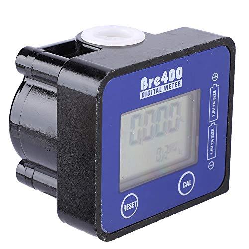 Flussimetro, display LCD digitale da 1/2 pollici in lega di alluminio Sensore di portata del flusso d'acqua per carburante diesel ad alta precisione per benzina, cherosene, olio motore (blu)