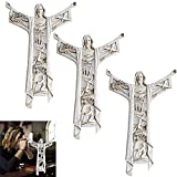Decoración De Jesús De Resina En Capas, Una Cruz De Pared De Cristo Resucitado Y Cruz De Pared De La última Cena (3PCS)