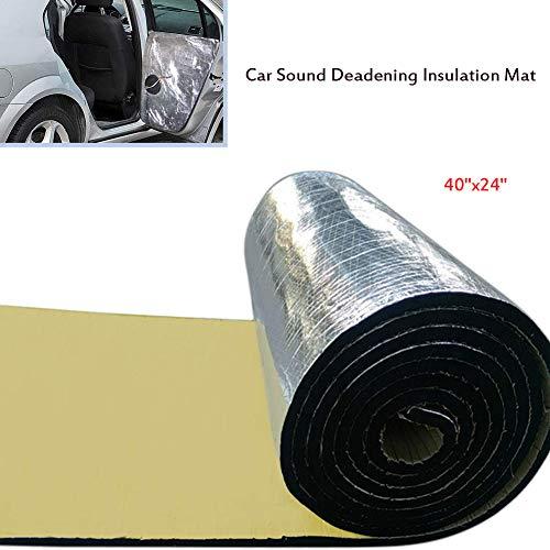 Yissma akoestisch schuimrubber geluidsisolerende mat, auto-uitlaatdemper, 10 mm voor auto, pc of subwoofer boxen 40 x 24 inch