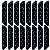 XUBX 16 Piezas Pinzas para Alfombras, Antideslizante Alfombra Pinzas, Pinzas de Esquina Antideslizantes, Almohadillas de Agarre, Reutilizable und Lavable Bases para Alfombras