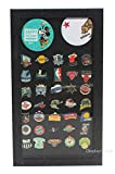 Pin Display Case Shadow Box - Sport, Ad, Political Campaign, Jewelry Pins, and Medals (Back Background)