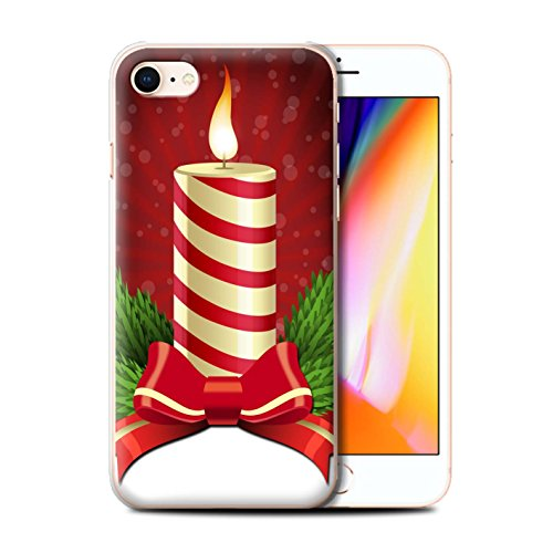 Telefoonhoesje voor Apple iPhone SE 2020 Kerst Decoraties Kaars/Advent Ontwerp Transparant Helder Ultra Slim Dun Hard Back Cover