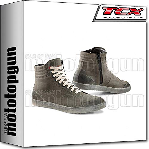 TCX Scarpe Stivali Moto 9555W X-Groove Waterproof Urban Grigio tg 40/7