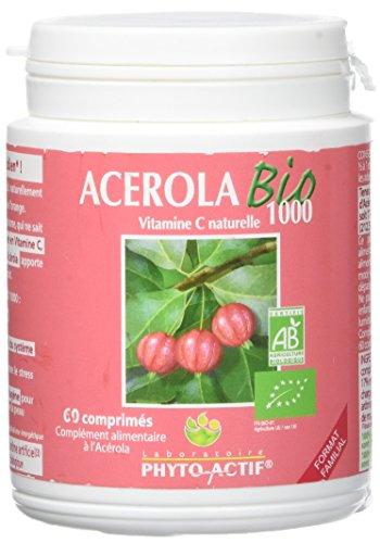 Acerola bio 1000 pot familial de 60 comprimés