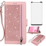 Asuwish Compatible with Samsung Galaxy Note 8 Wallet Case