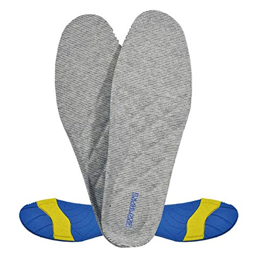 Mens Germanium Enabled PU Foam Circulation Shoe Insoles Providing Excellent Shock Absorption Cushion Inserts and Arch Heel Support for Most Everyday Shoes with Greater Comfort & Pain Relief