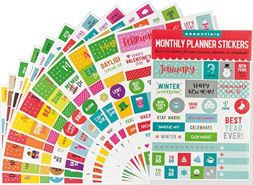 Essentials Month By Month Planner Stickers (set of 475 stickers)