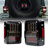 Xprite 4D Smoke Lens LED Tail Lights DOT Approved for 2007-2018 Jeep Wrangler JK JKU, High Intensity...
