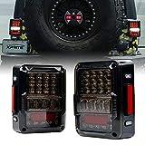 Xprite 4D Smoke Lens LED Tail Lights DOT Approved for 2007-2018 Jeep Wrangler JK JKU, High Intensity Led Rear...