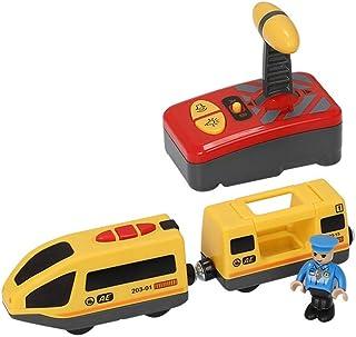 treno elettrico ferroviario compatibile per binario in legno BRIO senza rack in legno trenini per bambini Toddler Boys Girls treno giocattolo a batteria Junean Train Train Giocattoli magnetici