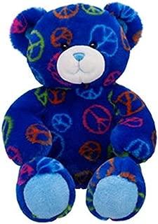 teddy bear peace sign