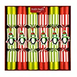 """Uncommon English Holiday Christmas Crackers - Pack of 6 x 13""""- Racing Penguins 