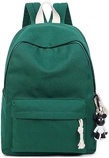 VHVCX Art Und Weise Frauen-Schule-Rucksack Lady Schultertasche Jugendliche Student-Buch-Tasche Solid Color Winter-Segeltuch-Schule Rucksäcke