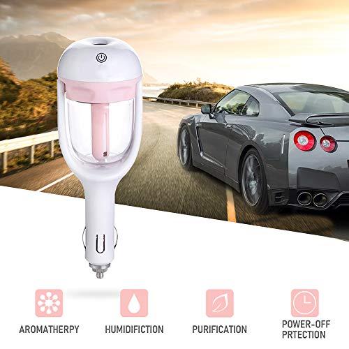 SAMMIU Auto Luftbefeuchter Lufterfrischer Luftreiniger Aromatherapie Ätherisches Öl Diffusor (Rosa)