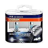 OSRAM NIGHT BREAKER UNLIMITED H4, Lampe de phare halogène, 64193NBU-HCB, 12V véhicule de...