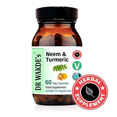 DR WAKDE'S® Neem & Turmeric Capsules I FREE SHIPPING I 100% Natural Herbal Supplement I Veggie Capsules by DR WAKDE'S® Natural Health Care