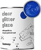 Hemway | Pintura de esmalte con brillo claro - Zafiro holográfico azul / 1 litro / cuarto...