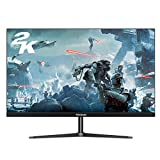 Thinlerain 27 Inch 1440p Frameless IPS Widescreen LED Monitor, 2K Gaming Monitor with 100% sRGB, 5 ms Response time, FreeSync, HDMI and VGA inputs