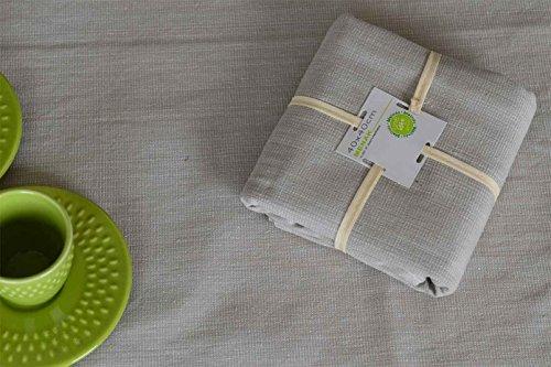 HomeMaison Lot de 4 Serviettes de Table, Coton, Lin, 40x40 cm
