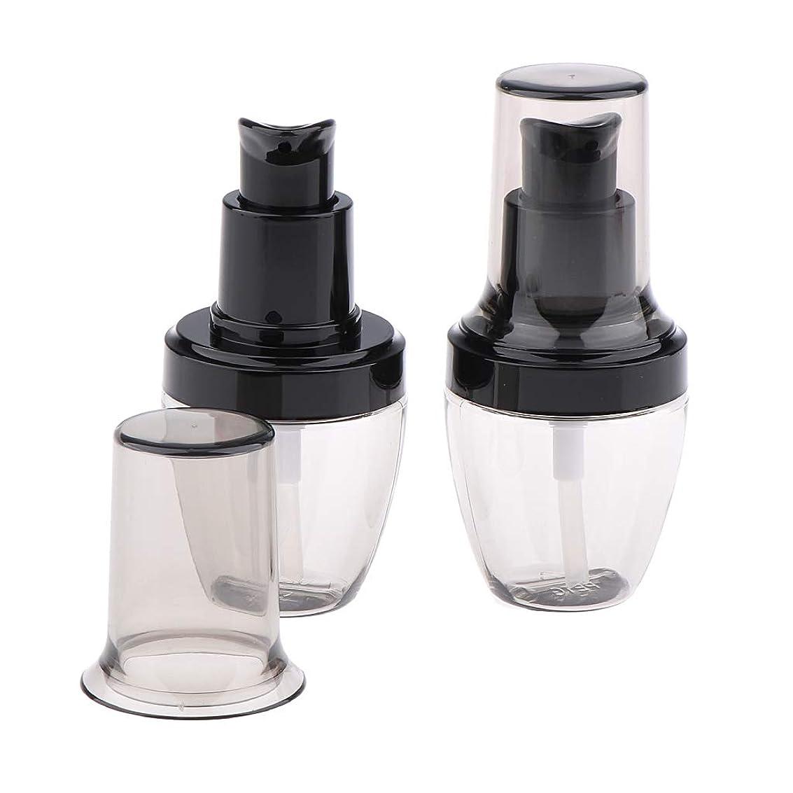 報酬の寺院キリストF Fityle 2個 メイクアップ ポンプボトル 旅行 詰め替えボトル 化粧品 ローションコンテナ 3サイズ選べ - 30ml