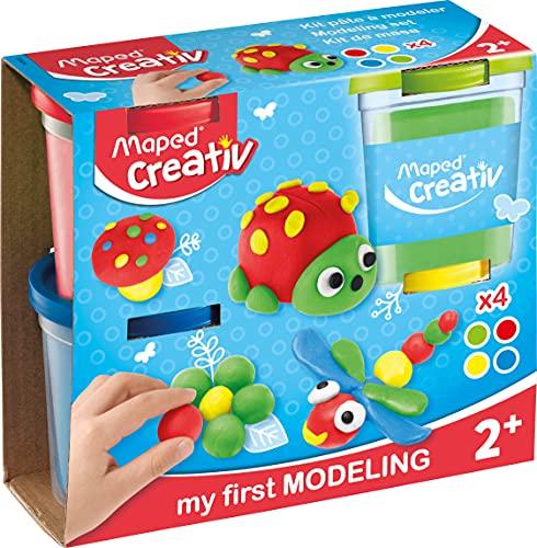 Maped Creativ My First Juego de Plastilina, color rojo, azul, verde, amarillo (M907200) , color/modelo surtido