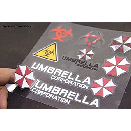 B213 Umbrella Corporation Set Auto Aufkleber 3d Emblem Badge Car Sticker Abziehbild Auto