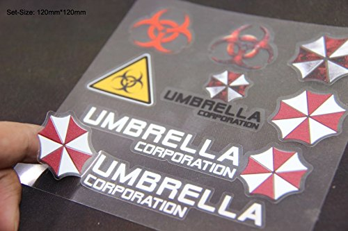 B213 Umbrella Corporation Set auto aufkleber 3D Emblem Badge car Sticker Abziehbild