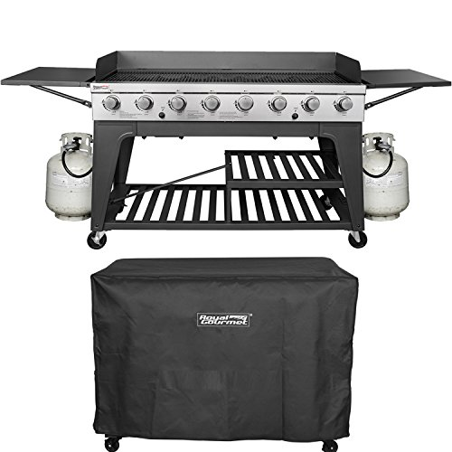 Royal Gourmet Event 8-Burner BBQ Propane Gas Grill with Cover, Picnic or Camping Outdoor Grills Propane