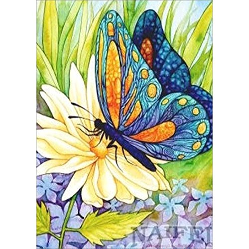 DIY 5D Full Drill Diamond Painting by Number Kits, Jiayit 5D Butterfly Embroidery Paintings Rhinestone Pasted DIY Diamond Painting Cross Stitch (Multicolor)