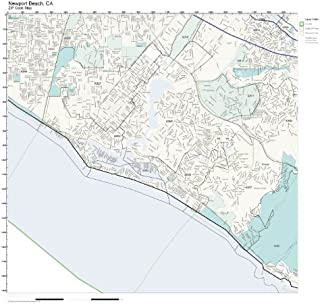 ZIP Code Wall Map of Newport Beach, CA ZIP Code Map Laminated