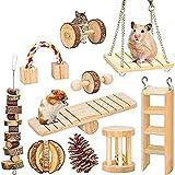 MQFORU Lot de 10 jouets à mâcher pour hamster, cochon d'Inde, rats,...
