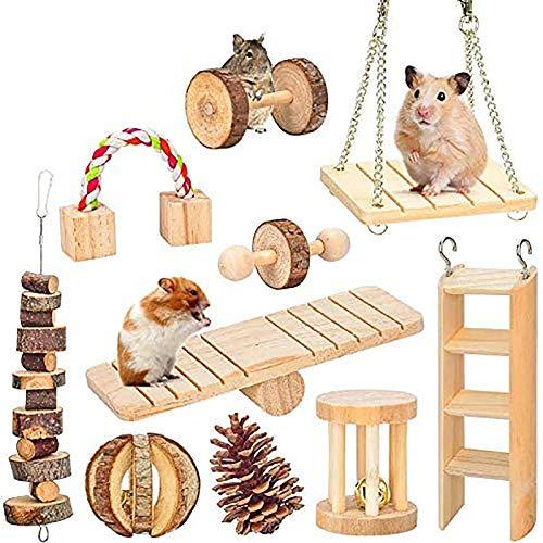 MQFORU Lot de 10 jouets à mâcher pour hamster, cochon...