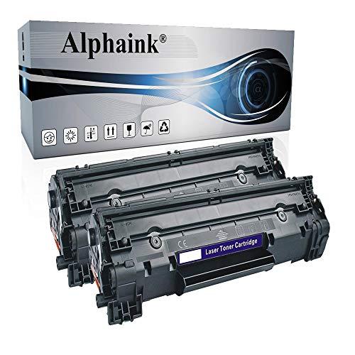 Alphaink 2 Toner compatili con HP CB436A per stampanti HP Laserjet M1120 1522N P1503 P1504 P1505 P1506
