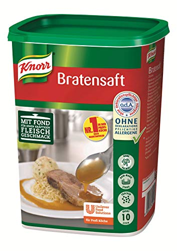 Knorr Bratensaft Trockenmischung (authentischer Fleischgeschmack) 1er Pack (1 x 1kg)