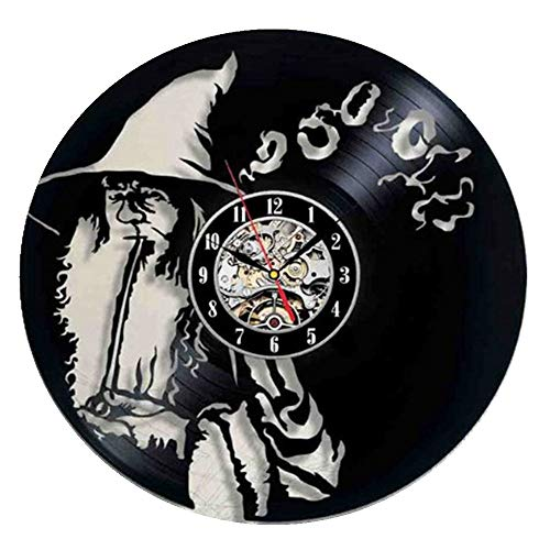 wtnhz LED-Vinyl record wall clock simple personality living room American modern clock laser engraving