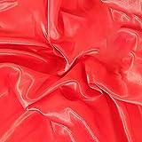 MUYUNXI Tela De Raso Forro De Tela para Vestidos De Novias Fundas Artesanías Vestidos Blusas Ropa Interior 150 Cm De Ancho Vendido por Metro(Color:Gran Rojo)