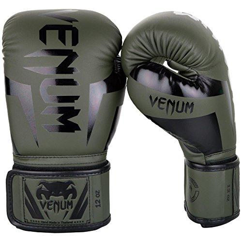 Venum Elite Boxhandschuhe, Khaki/Schwartz, 12 oz