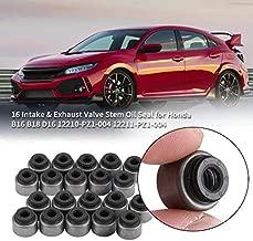16Pcs Intake Exhaust Valve Stem Oil Seal For Honda B16 B18 D16 12210-Pz1-004 12211-Pz1-004 Auto Parts