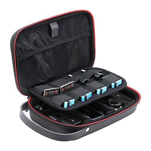AFAITH Estuche de Transporte para GoPro,DIY Bolsa de Almacenamiento Impermeable para GoPro 9 8 7 6 5 Xiaomi Yi Osmo Accesorios de acción Funda de Almacenamiento portátil Item Title