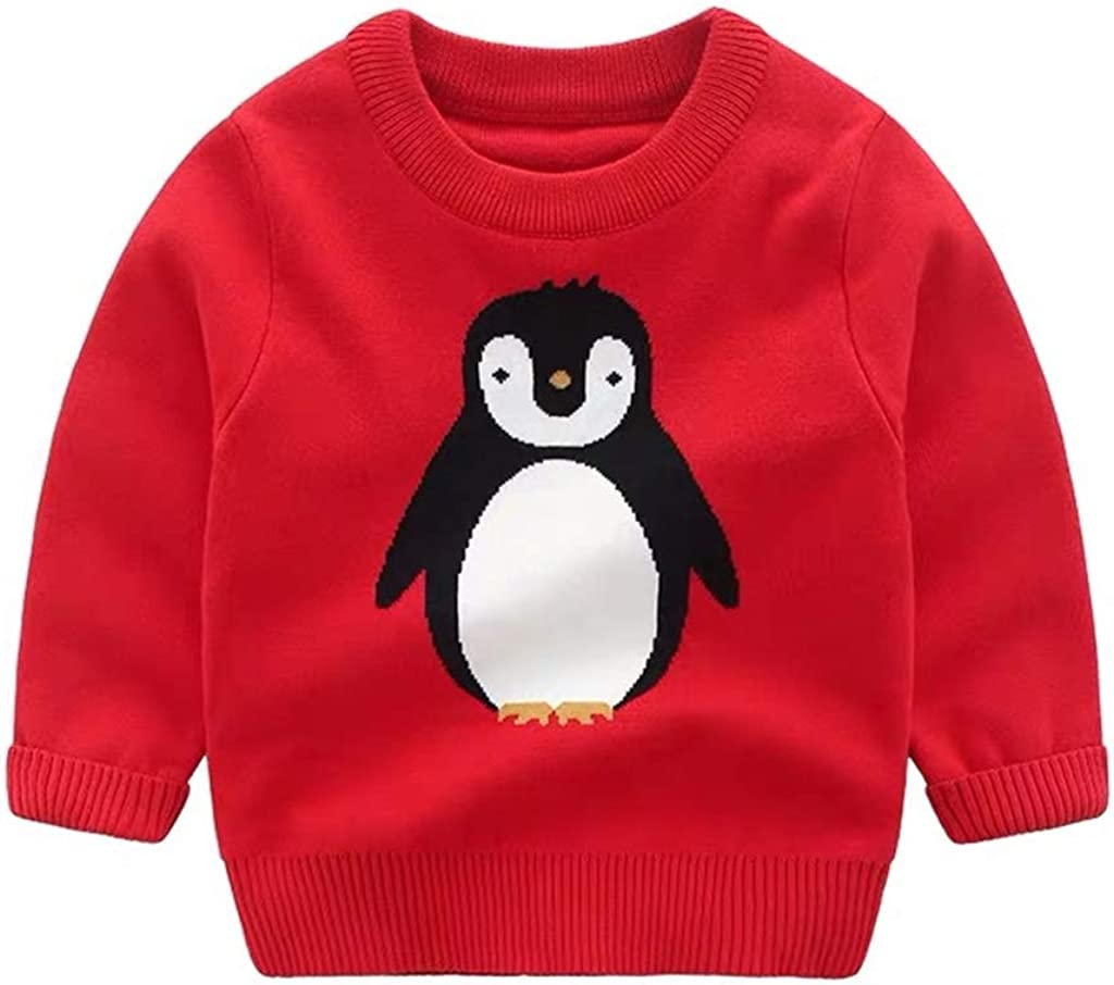 WYTbaby Kids Knitted Sweater Boys Girls Round Collar Sweatshirt Pullover Long Sleeve