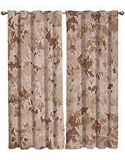 "Boys Room Waterproof Window Curtain Football Player Uniform Decorative Curtains For Living Room W63"" x L63"""