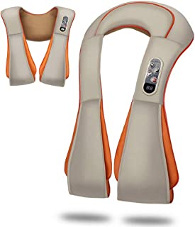 LMEIL Shiatsu Back Massager Masajeador de Almohadas de amasamiento 3D de Tejido Profundo para Cuello, Espalda, Hombros, pies, piernas: Masaje eléctrico de Cuerpo Completo, Alivio del Dolor Muscular