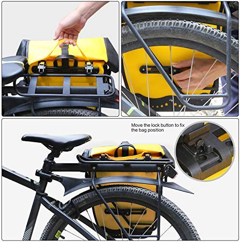 Rhinowalk Fahrradtasche 20L TPU Wasserdichtes Fahrrad Gepäcktaschen Reißfest Rücksitz Gepäckträger Tasche MTB Fahrrad Satteltaschen - 4