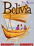 ABLERTRADE Bolivien Südamerika Vintage Reise Metall Kunst
