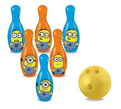 C&C Bowling Set Minions 6Kegeln und Ball Spiel Spielzeug Geschenk mod558