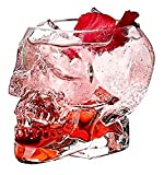 ZKDY 4 unids Skull Glass Doble Wall Shot Shotkey Wine Crystal Bottle Bottle Cup Cráneo Copa Taza Taza Transparente Vino Tazas de Bebida Regalo para Hombres 80ml 150ml 300ml, 80ml Decantador de Whisky