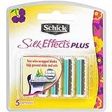 Schick Silk Effects Plus Razor Blade Refills for Women - 5 Count