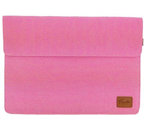 Venetto 133 Zoll Macbook Air Pro Retina 129 Zoll iPad Pro Microsoft Surface Laptop Tasche Filz Sleeve Hulle Ultrabook cover Pink