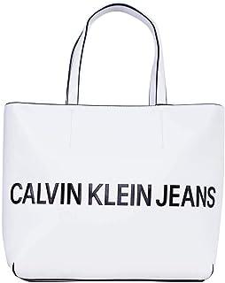 6097a013c8c Calvin Klein Jeans Sculpted Logo Tote Bag for Women - White K60K605246